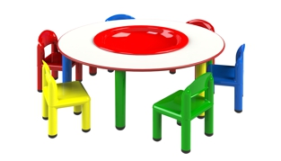 Charmant Metal   Arcobaleno Line Tables And Chairs For Nurseries, Nursery Schools,  Preschools, Baby Parking, Play Areas